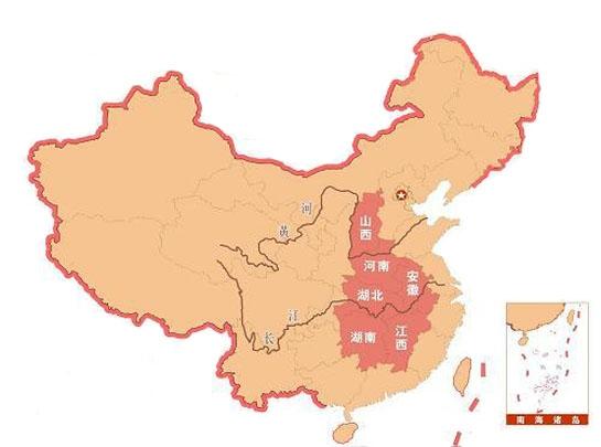 中部地区代理分布